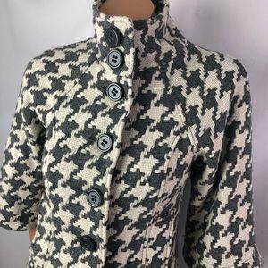 BBDakota offwhite grey houndstooth jacket coat SzS